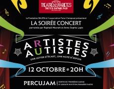 Soirée concert événementielle, dédiée et animée par des autistes musiciens. Théâtre des Variétés. le 12 octobre .