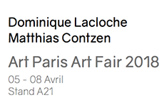 Art Paris Art Fair 2018. LOO & LOU GALLERY 5/8 avril. Stand 21.