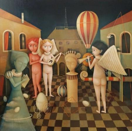 Snezana Petrovic - Collection du Journal de Venus - 2017 - Huile sur toile de lin - 100x100 copie