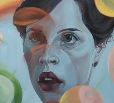 Dragana Markovic, Agnès, L'Ecole des Femmes, huile sur toile, 110 x100 copie