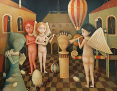 En permanence à la Galerie Boris . Artistes des Balkans à Paris – vol 2 – . Galerie BORIS.